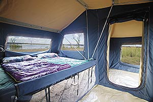 adventure camping and off road trailers easy access king size bed